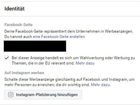 Facebook Identitätsprüfung